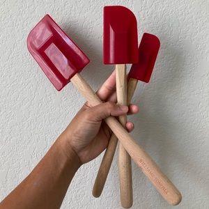 Williams Sonoma red silicone spatulas x3